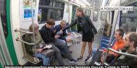 Фейк или нет: видеоакция против раздвинутых ног в Петербурге вызвала споры