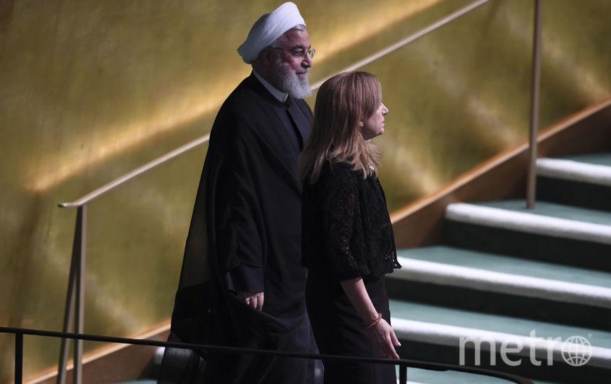 В Нью-Йорке проходит 73-я сессия Генассамблеи ООН. На фото: президент Ирана Хасан Рухани. Фото AFP