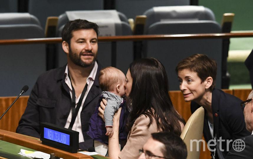 В Нью-Йорке проходит 73-я сессия Генассамблеи ООН. На фото: премьер-министр Новой Зеландии Джасида Арден принесла на слушания трёхмесячную дочь. Фото AFP