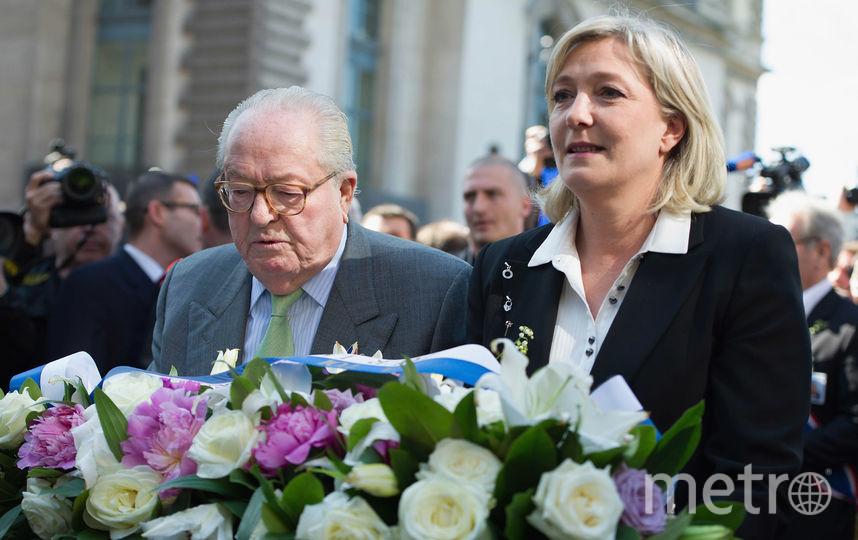 Жан-Мари Ле Пен с дочерью Марин. Фото Getty