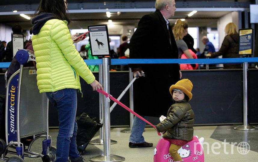 Ребенок получил сотрясение мозга на самолете. Фото Getty