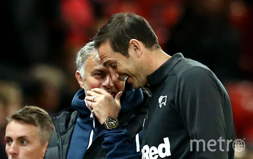 "Тренеры ""Манчестер Юнайтед"" и ""Дерби Каунти"" Жозе Моуринью и Фрэнк Лэмпард. Фото Getty"