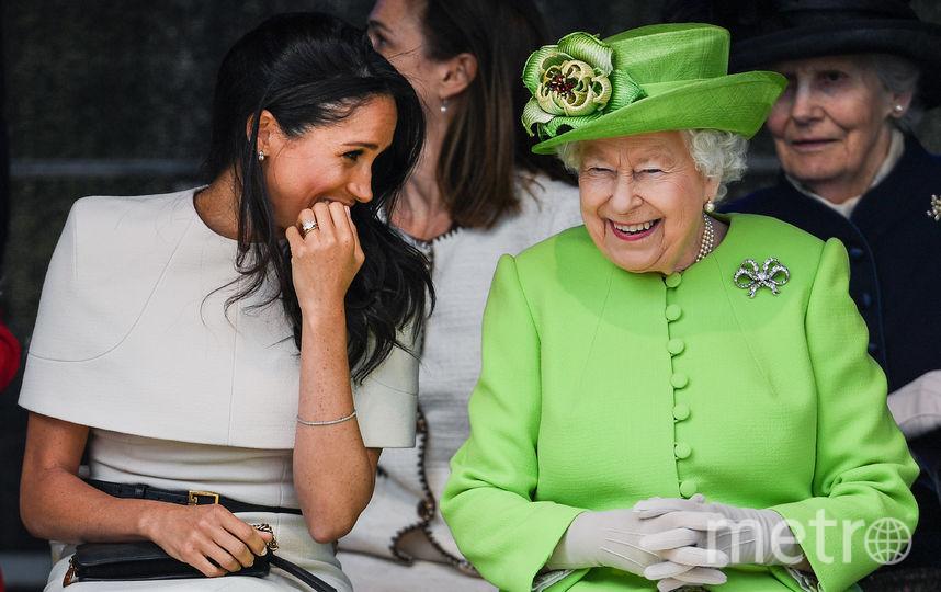 Меган Маркл и королева Елизавета II