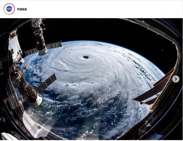Фото супертайфуна. Фото Astro_Alex_ESA
