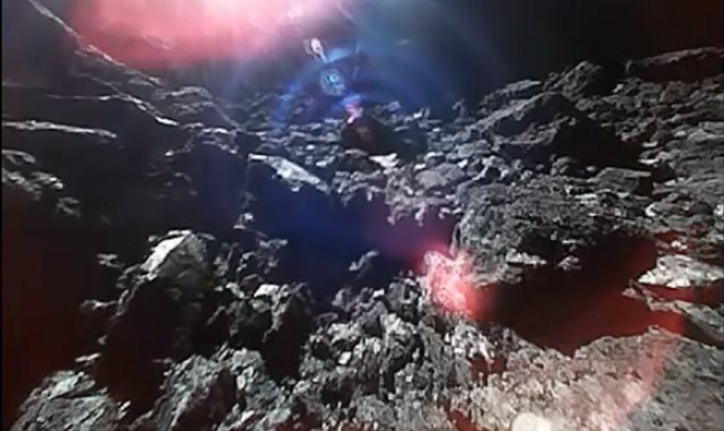 Кадры с поверхности астероида. Фото Скриншот, Скриншот Youtube