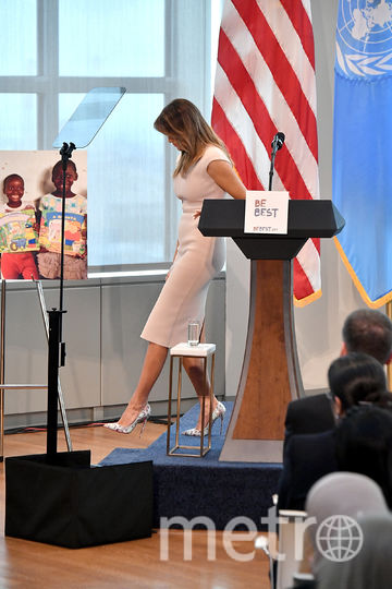 Мелания Трамп на приёме в Нью-Йорке. Фото Getty