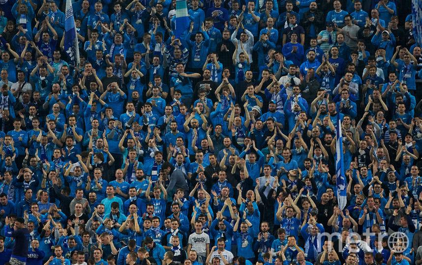 "Болельщики ""Зенита"" на стадионе ""Санкт-Петербург"". Фото Getty"