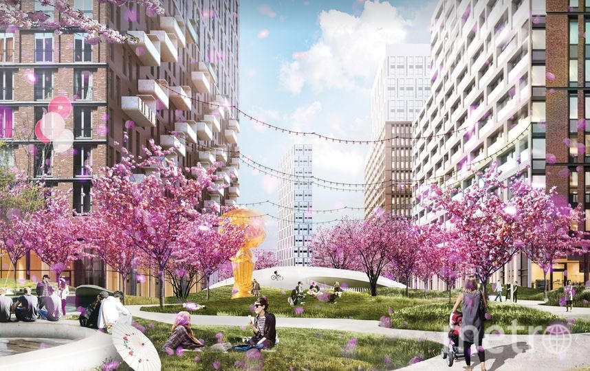 "Проект ""Площади сакуры"" в будущем районе. Фото Предоставлено организаторами"
