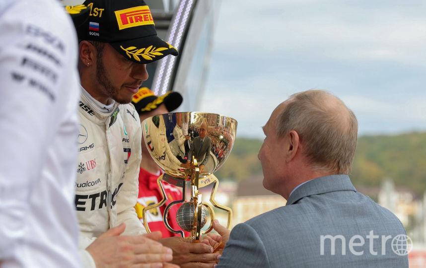 """Путин побывал на """"Формуле-1"""" в Сочи. Фото AFP"""