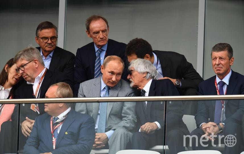 "Путин побывал на ""Формуле-1"" в Сочи. Фото Getty"