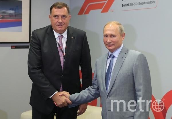 Путин встретился с президентом Республики Сербской  Боснии и Герцеговины в Сочи. Фото РИА Новости
