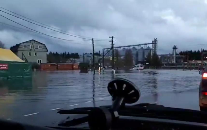 В Ленобласти затопило поселок - в Рощино улицы превратились в реки.