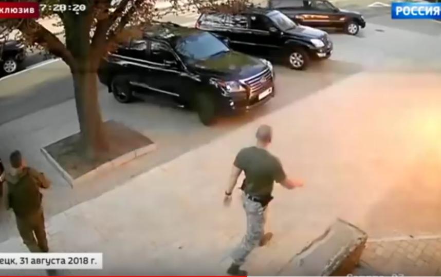 Последние минуты жизни главы ДНР Александра Захарченко попали на видео. Фото Все - скриншот YouTube