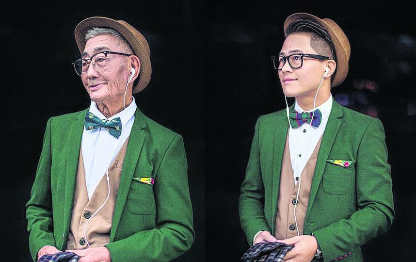 Динг Бингкаи (слева) и его внук Динг Гуолинг (справа). Фото Скриншот Instagram: xiaoyejiexi