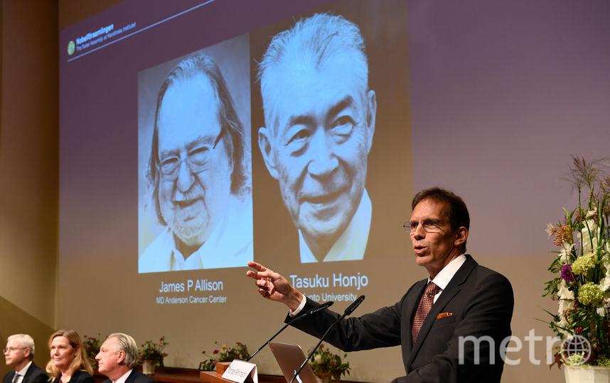 Лауреаты Нобелевской премии по физиологии и медицине. Фото AFP