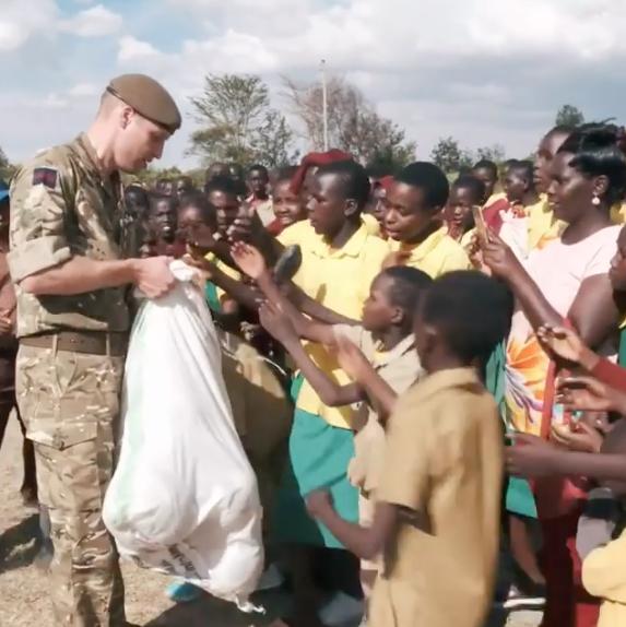 Принц Уильям побывал в Кении. Фото Скриншот Instagram: @kensingtonroyal