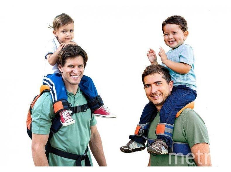 5. Оседлать папу и маму. Фото www.saddle-baby.ru