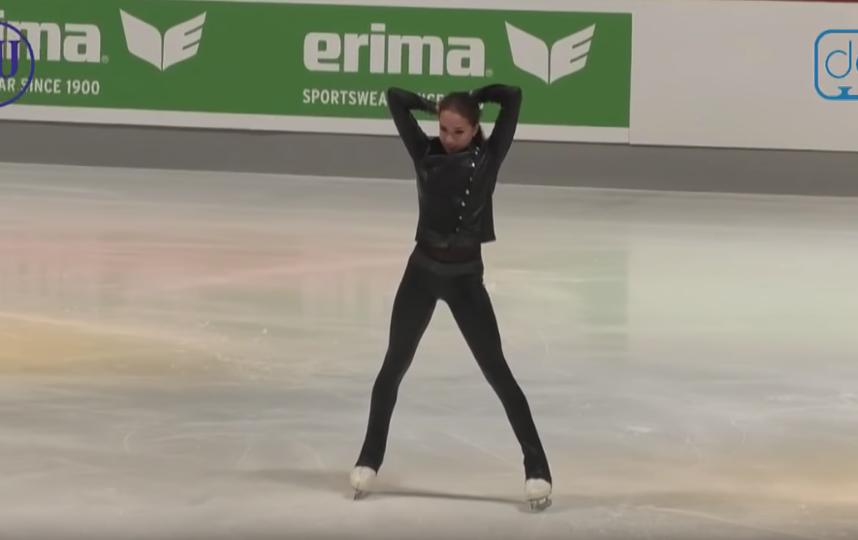 Алина Загитова на турнире в Германии. 2018 год. Фото Скриншот , Скриншот Youtube