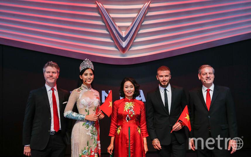 Дэвид Бекхэм побывал на презентации новых вьетнамских авто. Фото Getty