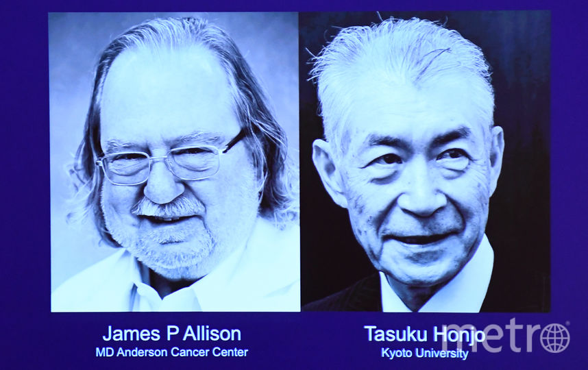 Джеймс Эллисон и Тасуке Хондзё. Фото AFP