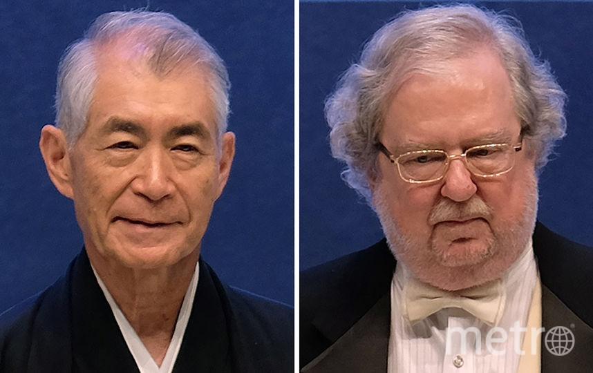 Джеймс Эллисон (справа) и Тасуке Хондзё (слева). Фото AFP