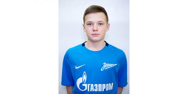 """Защитник """"Зенита"""" U-13 Никита Лобов."""