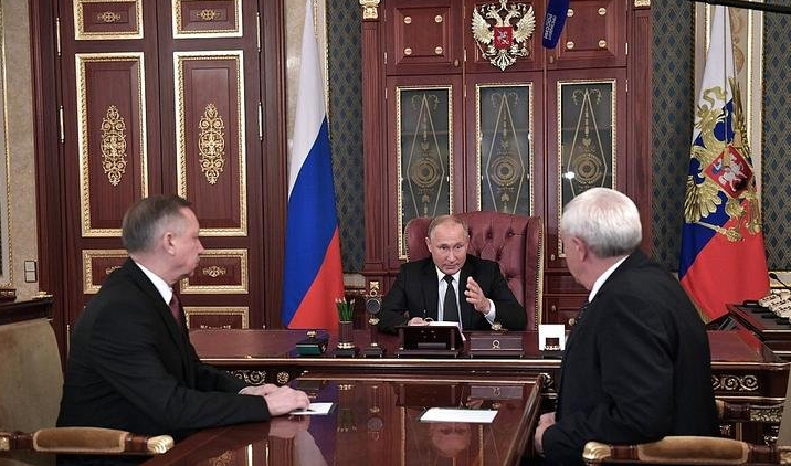 президент РФ Владимир Путин снял с должности действующего губернатора Петербурга. Фото www.gov.spb.ru