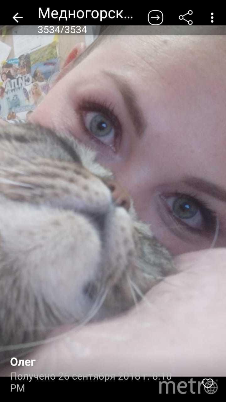 Олеся Михайлова и кот Никас. Фото Юлия Мухаметдинова