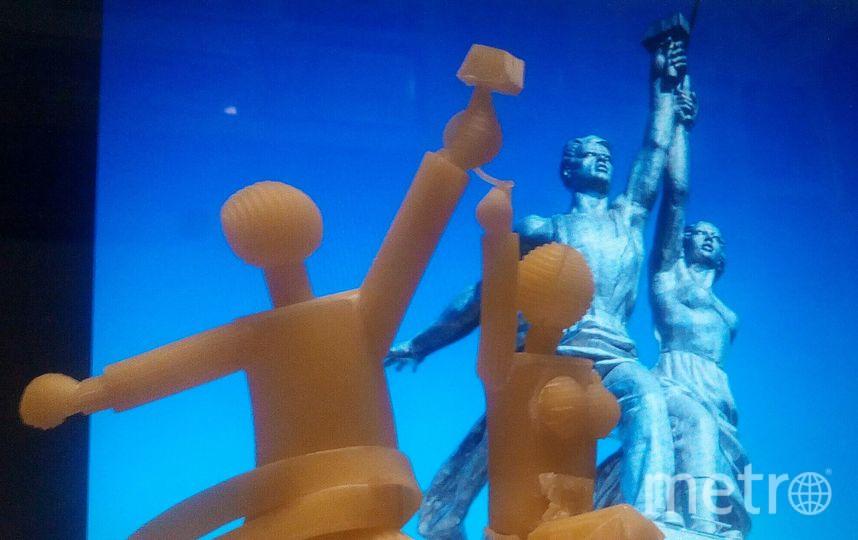 """Скульптура """"Раюочий и колхозница"""". Фото предоставлено Сергеем Пахомовым."""