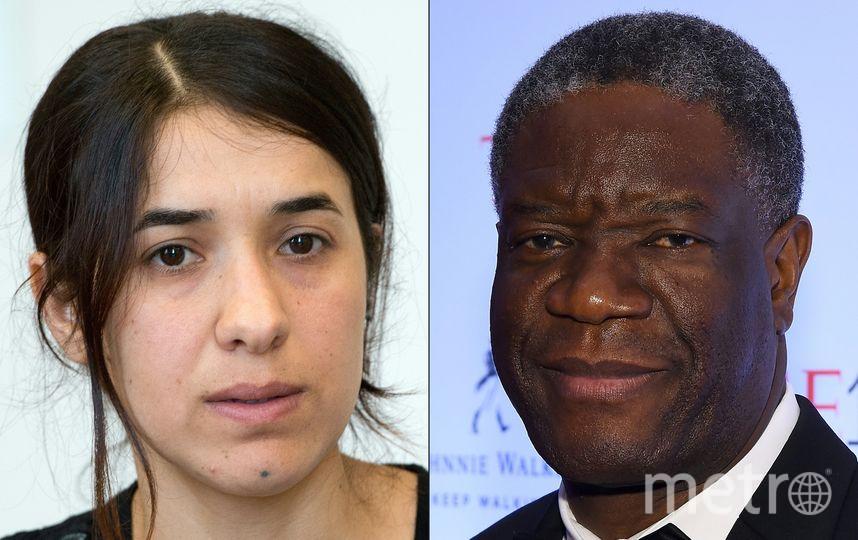 Лауреаты Нобелевской премии мира хирург Денис Муквеге и правозащитница Надя Мурад. Фото AFP