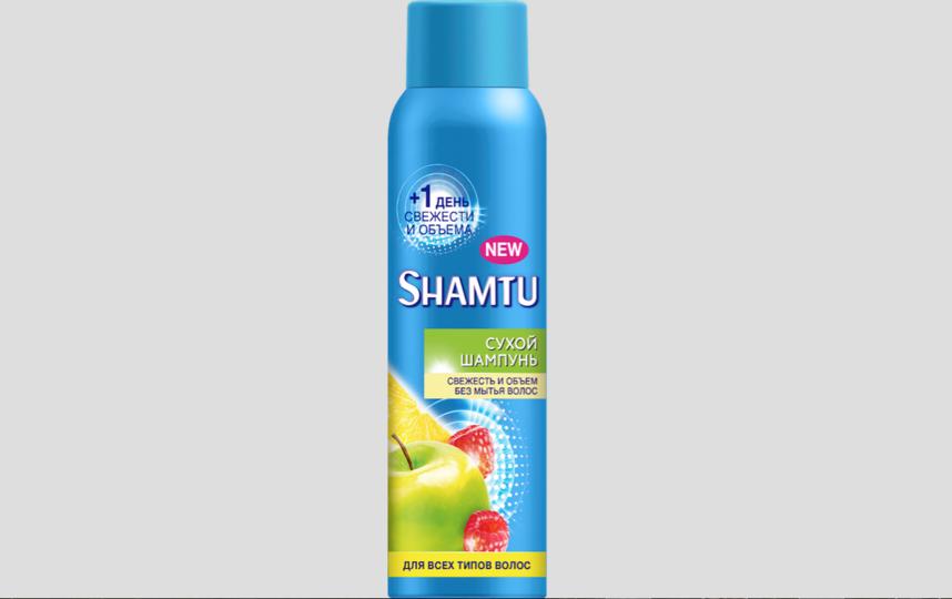 Сухой шампунь Shamtu для всех типов волос.