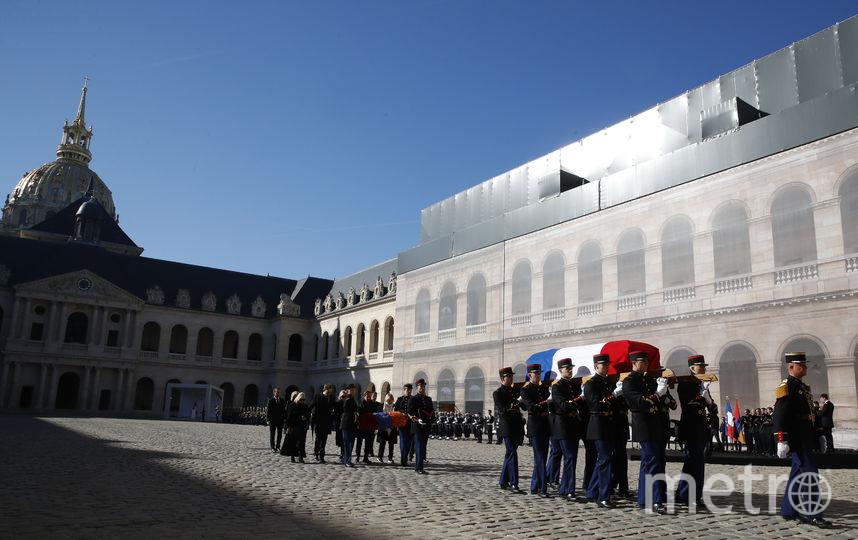 У гроба Азнавура произносили трогательные речи. Фото AFP