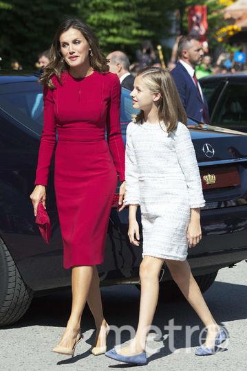 Королева Летиция с дочерью. Фото Getty