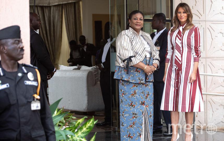 Мелания Трамп в Аккре (Гана). Фото AFP
