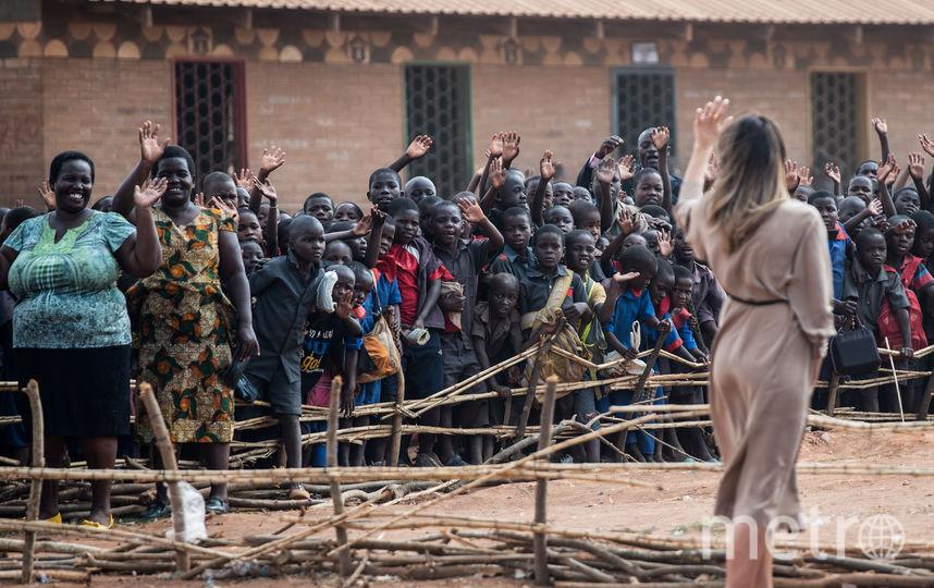 Мелания Трамп в детской школе в Малави. Фото AFP