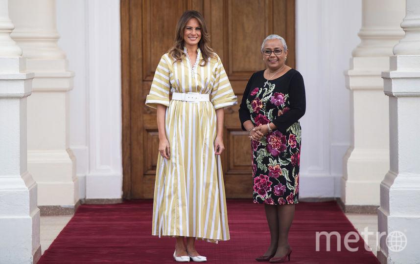 Мелания Трамп и первая леди Кении Марьярет Кеньятта. Фото AFP