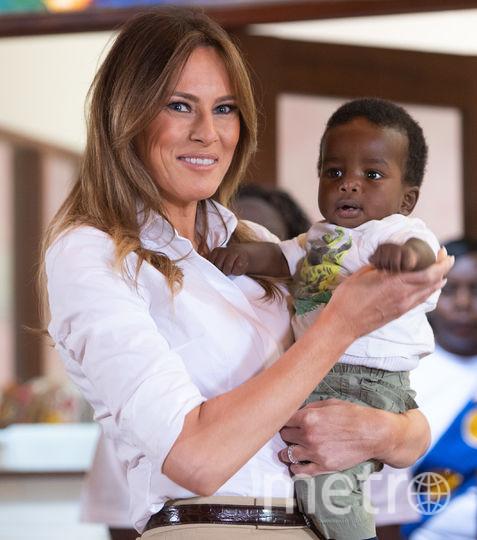 """Мелания Трамп в детском приюте """"Гнездо"""" в Найроби. Фото AFP"""