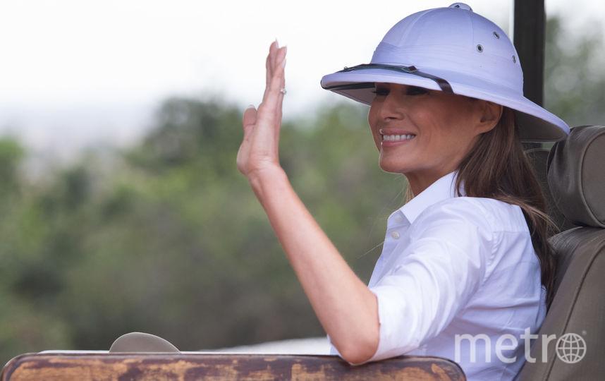 Мелания Трамп на экскурсии в Национальном парке Кении. Фото AFP