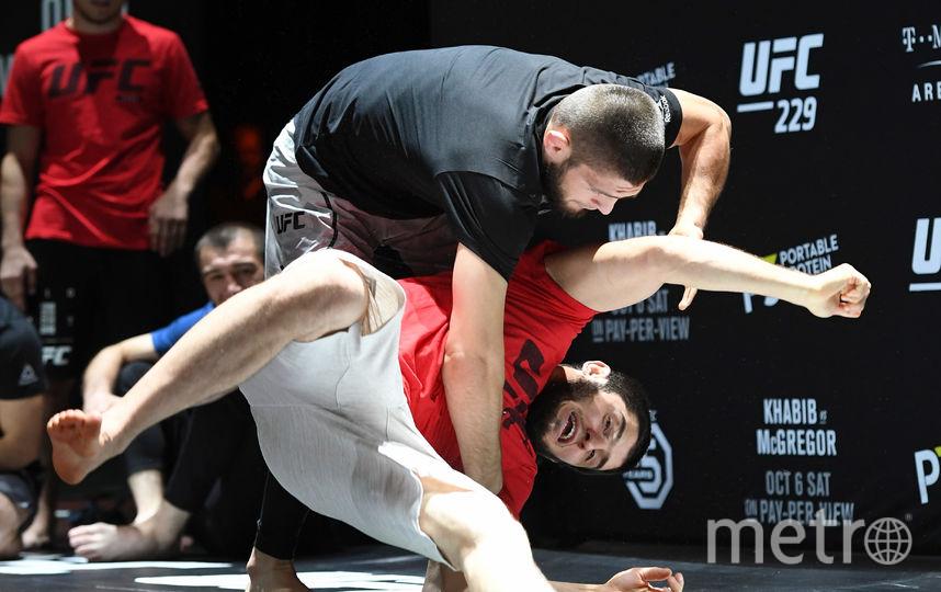 Хабиб Нурмагомедов на тренировке. Фото Getty