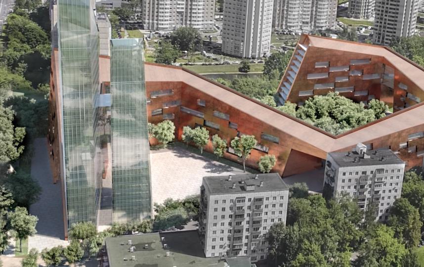 Общественное здание необычной формы появится возле улицы Лобачевского. Фото Скриншот