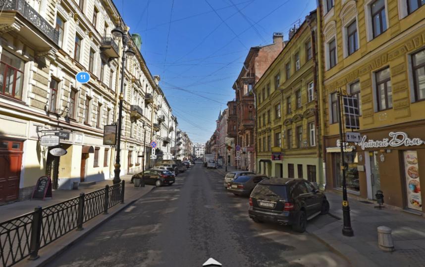 Улица Рубинштейна. Фото Яндекс.Панорамы