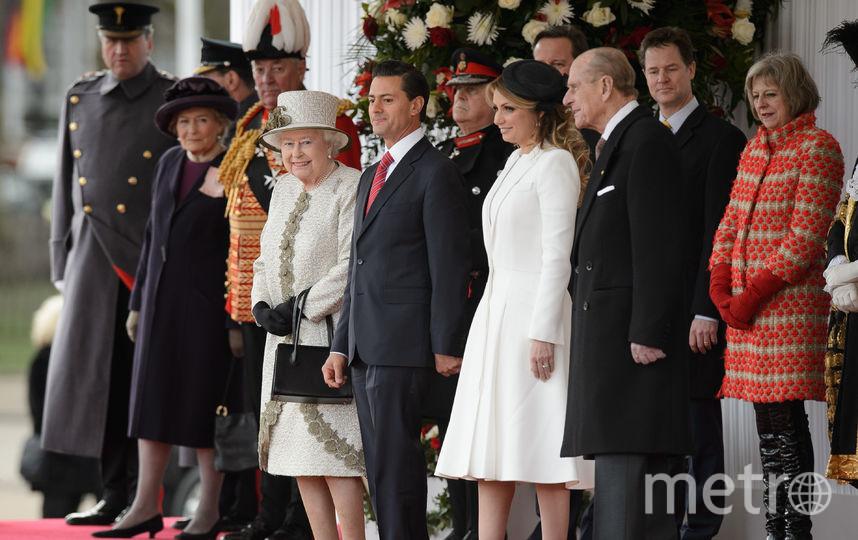 Энрике Пенья Ньето, Анхелика Ривера и члены королевской семьи Великобритании. Фото Getty