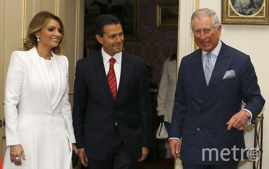Анхелика Ривера, Энрике Пенья Ньето и принц Чарльз. Фото Getty