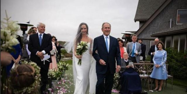 Свадьба дочери Джорджа Буша.