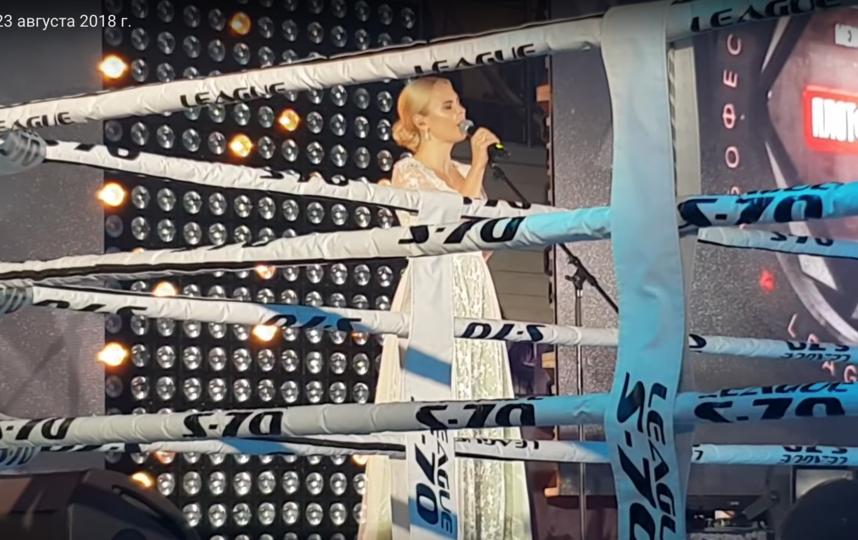 Пелагея на турнире Самбо в августе 2018го. Фото  Егор Алексеев /youtube.com, Скриншот Youtube
