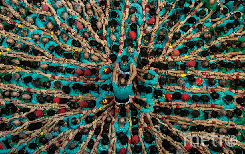 Фото с каталонского конкурса по сборке кастелей. Фото Getty
