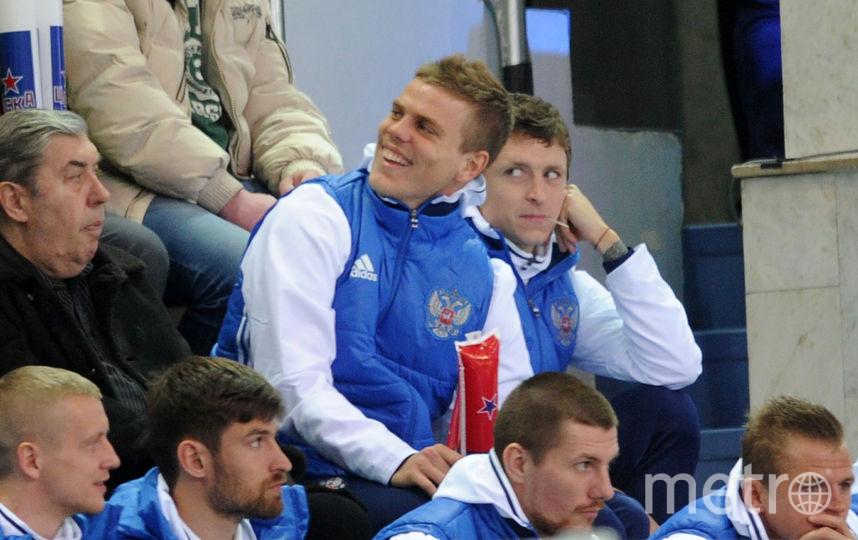 "Футболисты ""Зенита"" и ""Краснодара"" Александр Кокорин и Павел Мамаев. Фото Getty"