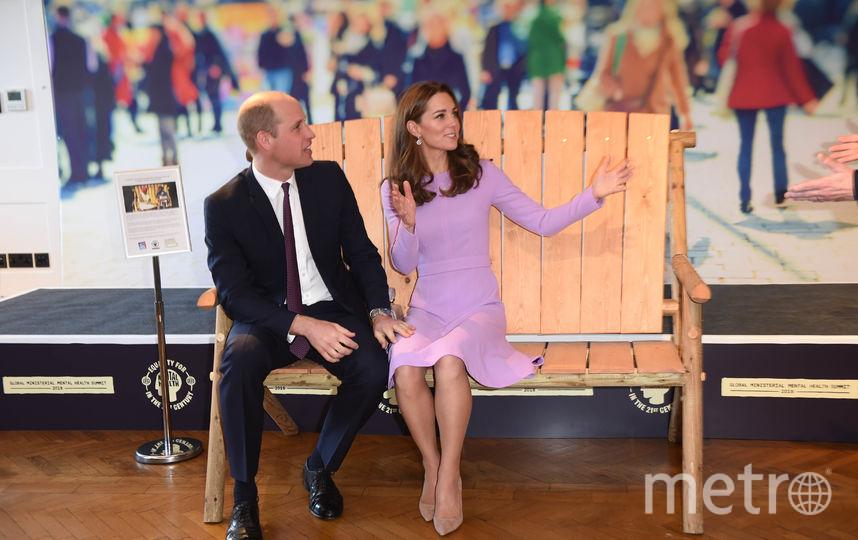 Кейт Миддлтон и принц Уильям на саммите по психическому здоровью. Фото Getty