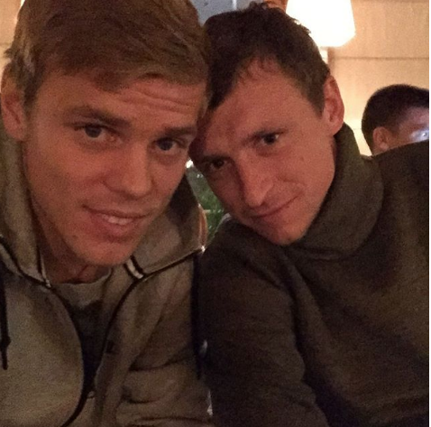 Александр Кокорин и Павел Мамаев. Фото instagram.com/kokorin9/, РИА Новости