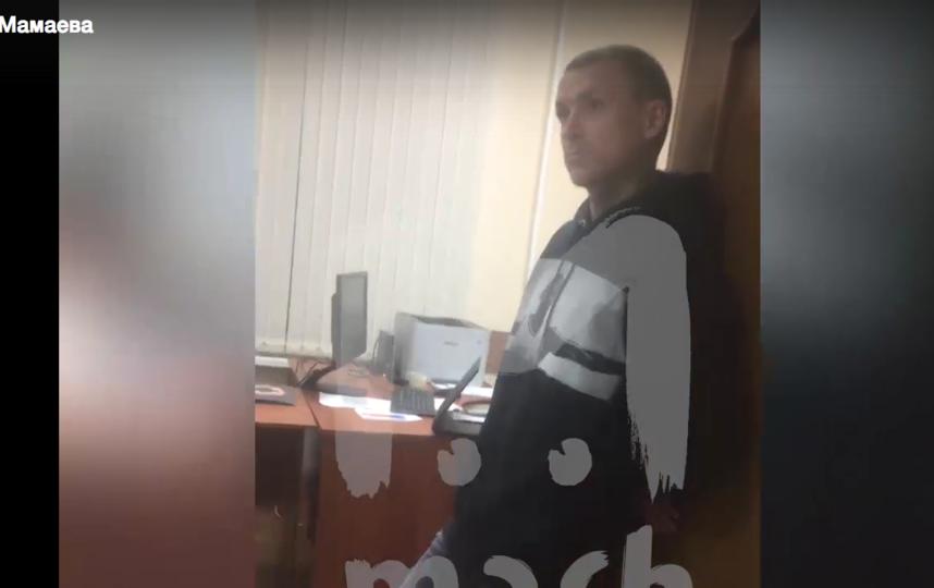 Допрос Павла Мамаева. Фото скриншот видео Mash